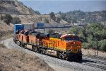 Westbound intermodal waits for traffic to clear