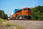BNSF 7630 Dpu's of this WB stack train.
