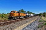 2 BNSF Mac's lead a corn syrup train WB!