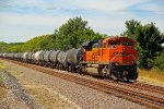BNSF 9170 Works Dpu on a WB corn syrup train.