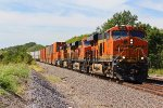 BNSF 6874 Leads a EB stack train!