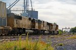 UP 7623 leads a stack off into the sun!