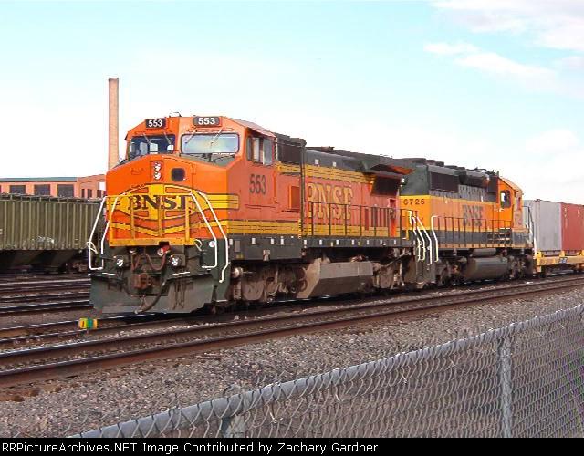 BNSF 553 Military Train