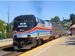 AMTK 66 40th Anniversary Heritage on Amtrak California San Joaquin Train 716
