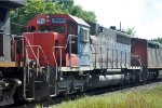 Rare trailing power on eastbound local