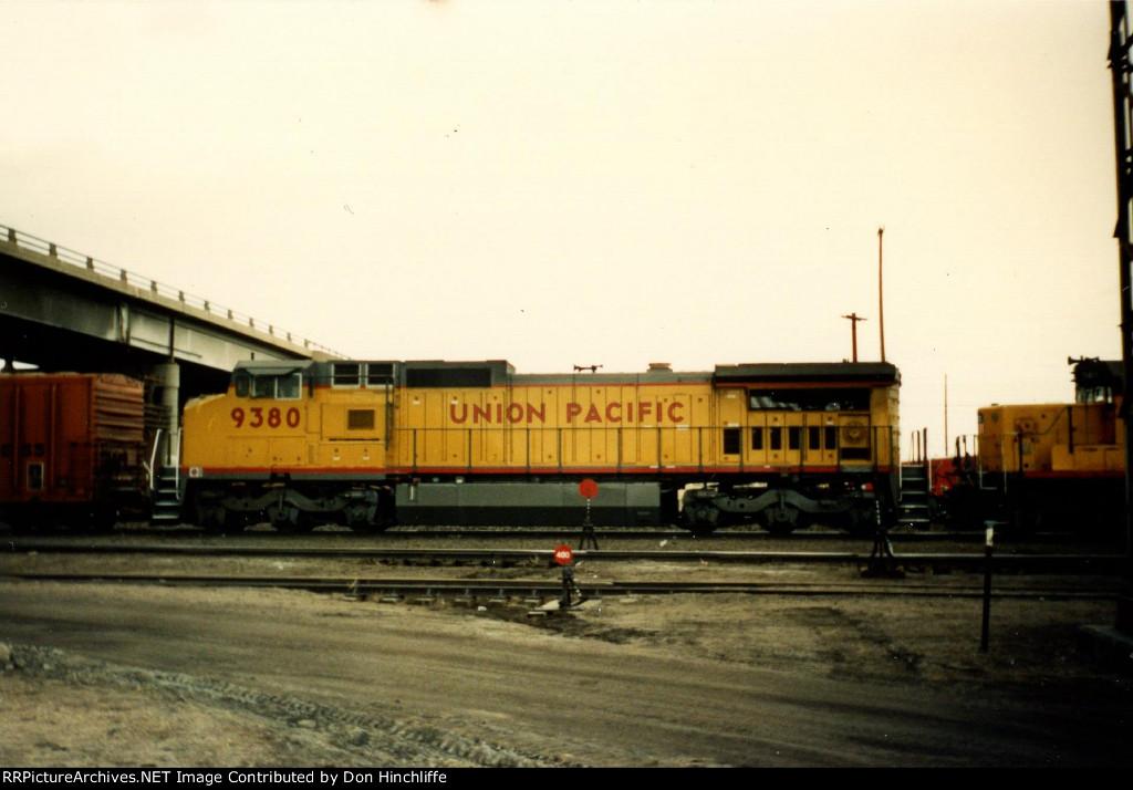 UP 9380 - C40-8 - Laramie WY - 1990