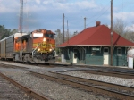 Mar 25, 2006 - BNSF 4954 leads train 204 past the depot