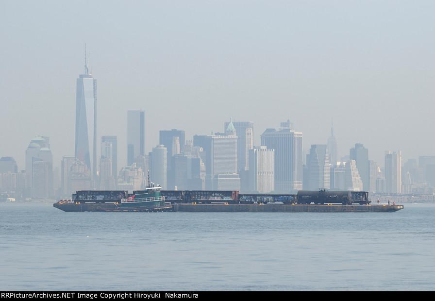 NYNJ crossing Hudson River - hazy summer morning #2