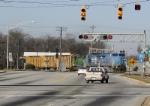 Northbound crosses US-76