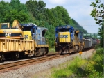 CSX 7640 Passing Work Train