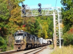 Trio of NS GP60s through Musconetcong Tunnel