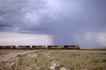 Arizona storm and SF B40-8s near Winslow