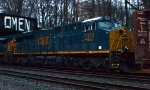 CSX ES44AH 3028 on trails Q438-22