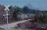 A westbound local leaving Barnett on the old Georgia RR.
