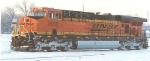 BNSF 7612 IN THE SNOW AT ARGENTINE YARD, KANSAS CITY, KS