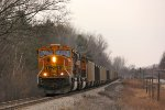 BNSF 8891 leads Z144 06 South at MP 8.8, Just outside of Bridgeport, MI