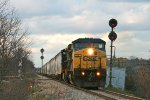 Just like old times, 2 Beat up CSX Dash 8s lead Z144 07 South at S. Blackmar.