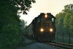 CSX 8709 leads Z127 south with 65 loads of grain and 73 cars of Manifest