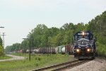 LSRC 6301 leads Z127 North with a big train in tow
