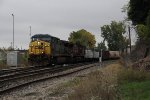 CSX 536 & CP 9779 slowly roll west past the wye with Q335