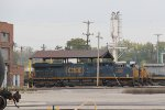 CSX 958 & 3090 sit outside of the engine house