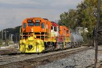 MQT 3390 leads Z151 into Wyoming Yard on the Even Lead