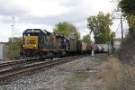 CSX 2301 & 6930 lead D707 west, nearing the completion of its daily trip to Lansing and back