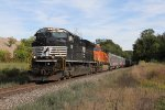 Nearing its destination, NS 1031 & BNSF 915 lead the circus train toward its next shows in Grand Rapids