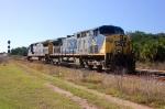 Amtrak backing into station