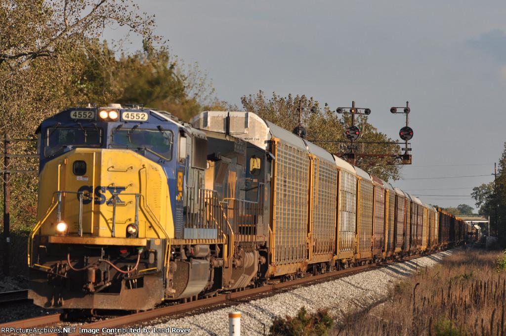 CSXT 4552 On CSX Q 272 Northbound
