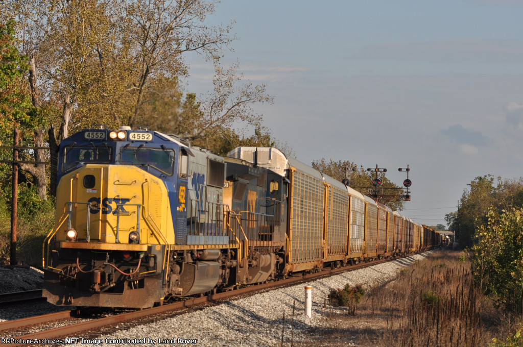 CSXT 4552 On CSX Q 272 Northbound