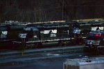 NS SD40-2 3421 sits in Allentown Yard