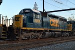 CSX SD40-2 8408 trails on Q418-25