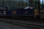 CSX SD50-3 8614 trails on W079