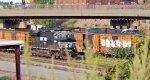 NS 8094 with a CSX creeper behind the Railbox cars
