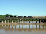 NS 7547 crosses the Dan River