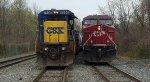 CSX Q418 & NS 39G