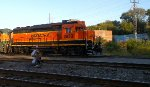 BNSF 2813 Sitting on the Little Rock and Western line just off the UP mainline.