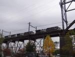 Crossing the Delair Train Bridge