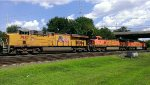 Two BNSF units and a UP