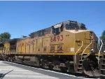 UP 6493 Trails on Detoured Ethanol Train