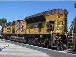 UP 8417 Trails on Detoured Ethanol Train