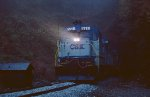 A CSX excursion train bound for Spruce Pine, NC, exiting Blue Ridge Tunnel on the return to Charlotte.