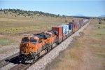 Rear DPUs on eastbound intermodal