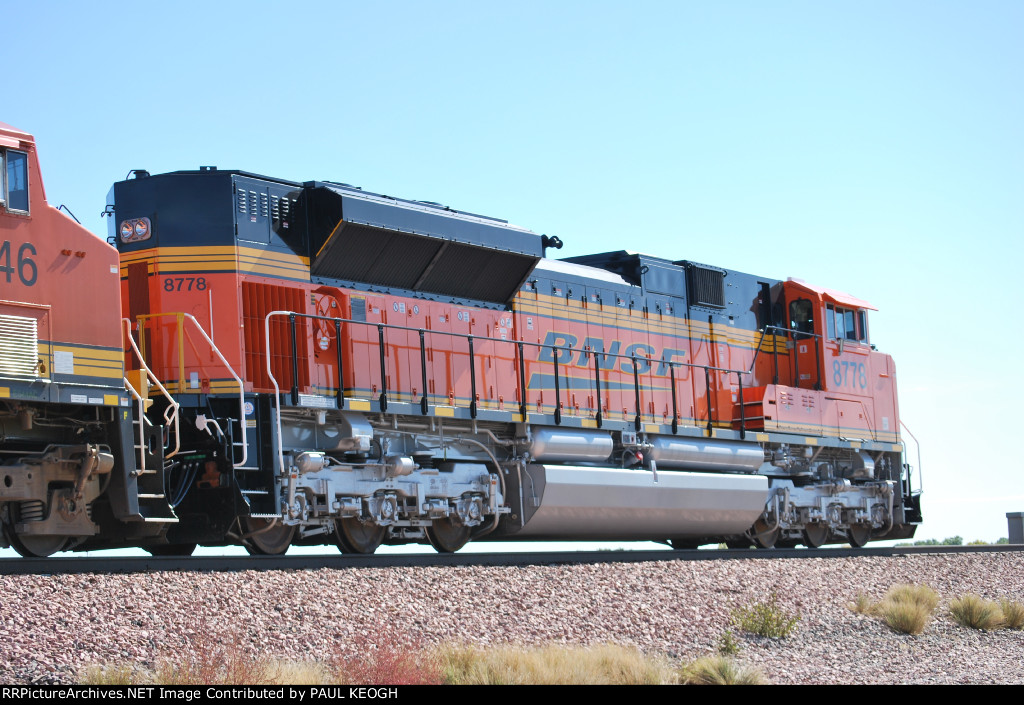 Heading East Finally!!! BNSF 8778 and BNSF 6246 pass me by.