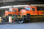 BNSF GP60M'S #113 & 151 getting PTC installed.