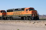 BNSF GP60M #109 leads Cadiz local down A&C sidetrack for interchange setout.