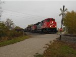 CN 8879, BCOL 4641, and SOO Octagonal Concrete Crossing Shanty