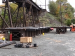 New bridge spans waiting to be installed