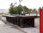A length of new bridge span
